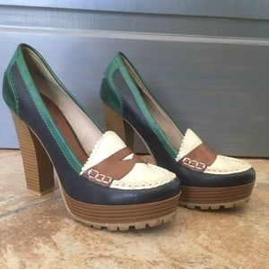 MIA Stacked Heel Penny Loafer